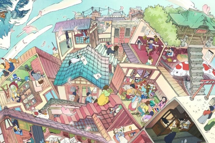 TAAF2022: Main visual produced by Kyoto Animation The scene of cel animation is in the style of the Edo, Meiji, and Taisho eras.